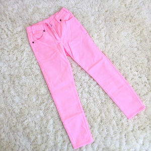 J.CREW Pink Girls Stretch Denim Jeans (Sz 8)